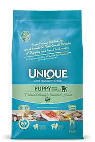 PUPPY DOG MINI-SMALL WITH SALMON-ANCHOVY 3 KG