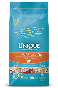 PUPPY DOG MEDIUM-LARGE WITH LAMB 15 KG
