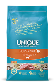 PUPPY DOG MEDIUM-LARGE WITH LAMB 3 KG